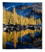 Leprechaun Lake Larches Fleece Blanket