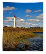 Lighthouse At The Water Fleece Blanket