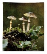 Little Mushrooms Fleece Blanket