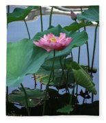 Lotus Flower At Calloway Fleece Blanket