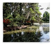 Magnolia Plantation Gardens Fleece Blanket