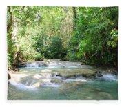 Mayfield Falls Jamaica Fleece Blanket