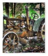 Mccormick Deering Tractor Fleece Blanket