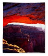 Mesa Arch Sunrise 2 Fleece Blanket