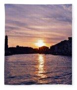 Mia Pervinca Murano Sunset  Fleece Blanket