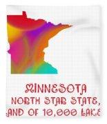 Minnesota State Map Collection 2 Fleece Blanket