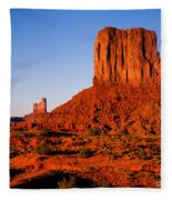 Monument Valley Sunset Fleece Blanket