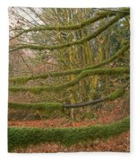 Moss-covered Big Leaf Maple Branches Fleece Blanket