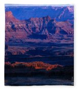Needles Overlook  Fleece Blanket