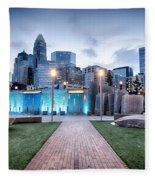New Romare-bearden Park In Uptown Charlotte North Carolina Earl Fleece Blanket
