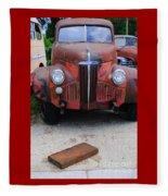 Old Old Car Fleece Blanket
