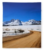 Open Road Tothe Sawtooth Mountains Fleece Blanket