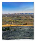 Panoramic Emmett Valley Fleece Blanket