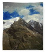 Peaks In The Rockies Fleece Blanket