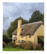 Picturesque Thatched Roof Cottage In Selworthy Fleece Blanket