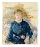 Portrait Of Louise Riesener Fleece Blanket