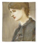 Portrait Of Mrs William J Stillman Nee Marie Spartali Fleece Blanket
