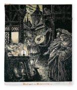 Poster Of The Mastersingers Of Nuremberg  Fleece Blanket