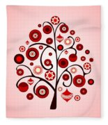 Red Ornaments Fleece Blanket