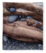 Rocks  In Driftwood Fleece Blanket