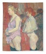 Rue Des Moulins Fleece Blanket
