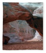 Sand Dune Arch - Arches National Park Fleece Blanket