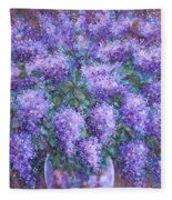 Scented Lilacs Bouquet Fleece Blanket