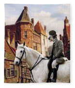 Scottish Deerhound Art Canvas Print Fleece Blanket