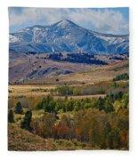Sierras Mountains Fleece Blanket