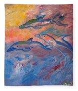 Soaring Dolphins Fleece Blanket