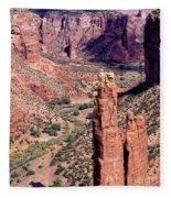 Spider Rock In Canyon De Chelly Fleece Blanket