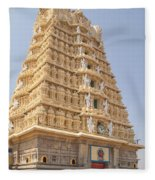 Sri Chamundeswari Temple Fleece Blanket
