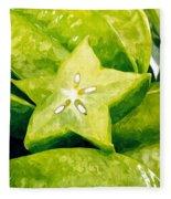 Star Fruit Carambola Fleece Blanket