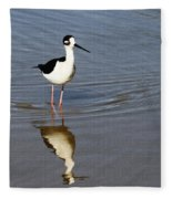Stilt Looking At Me Fleece Blanket