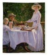 Summer Afternoon Tea Fleece Blanket
