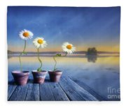 Summer Morning Magic Fleece Blanket