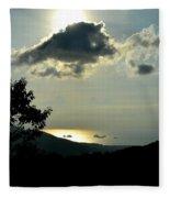 Sunset At Five Islands Fleece Blanket