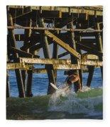 Surfer Dude 5 Fleece Blanket