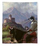 Swedish Elkhound - Jamthund Art Canvas Print Fleece Blanket