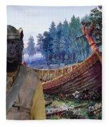Swedish Lapphund Art Canvas Print  Fleece Blanket