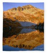 Switchback Peak On Cooney Lake Fleece Blanket