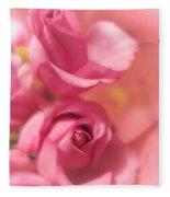 Tenderness Pink Roses 1 Fleece Blanket