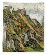 Thatched Cottages In Chaponval Fleece Blanket
