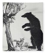 The Bear And The Fox Fleece Blanket