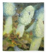 The Green Man With Fly Agaric Fleece Blanket