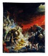 The Last Day Of Pompeii Fleece Blanket