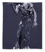 The Sculpture Of Auguste Rodin Fleece Blanket