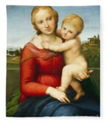 The Small Cowper Madonna Fleece Blanket