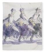 Three Kings Dancing A Jig Fleece Blanket