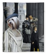 Tibetan Terrier Art Canvas Print Fleece Blanket